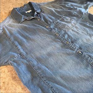 Caslon Denim Button Up Shirt